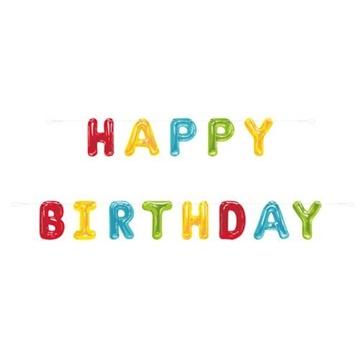 Obrázek Party nápis konfetový Happy Birthday 274 cm