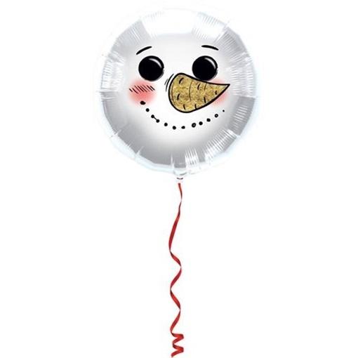 Obrázek z Foliový balonek sněhulák 45 cm