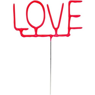 Obrázek Ozdoba na dort - prskavka nápis LOVE