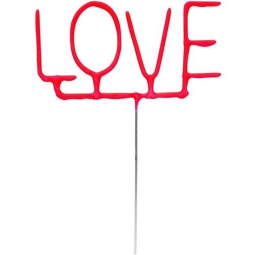 Obrázek z Ozdoba na dort - prskavka nápis LOVE