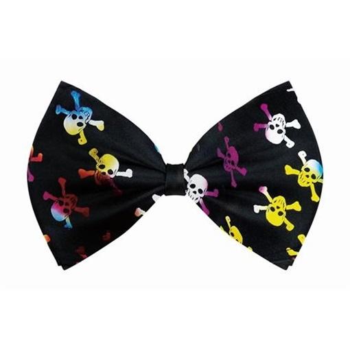 Obrázek z Motýlek černý - barevné lebky