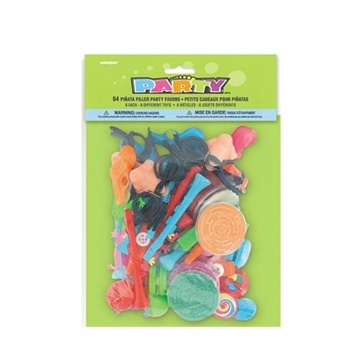 Obrázek Party hračky do piňaty 64 ks
