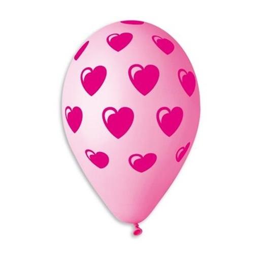 Obrázek z Latexový balonek s potiskem Srdíčka 3
