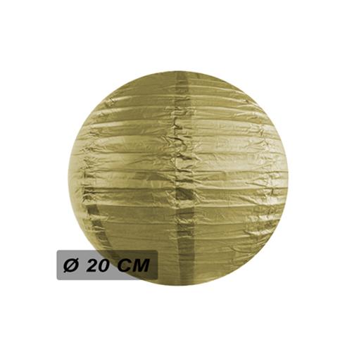 Obrázek z Lampion kulatý 20 cm zlatý