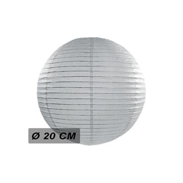 Obrázek Lampion kulatý 20 cm šedý