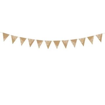 Obrázek Papírová vlaječková girlanda Kraft 210 cm