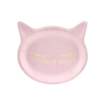 Obrázek Papírové talíře kočička 22 x 20 cm