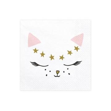 Obrázek Papírové ubrousky kočička 20 ks
