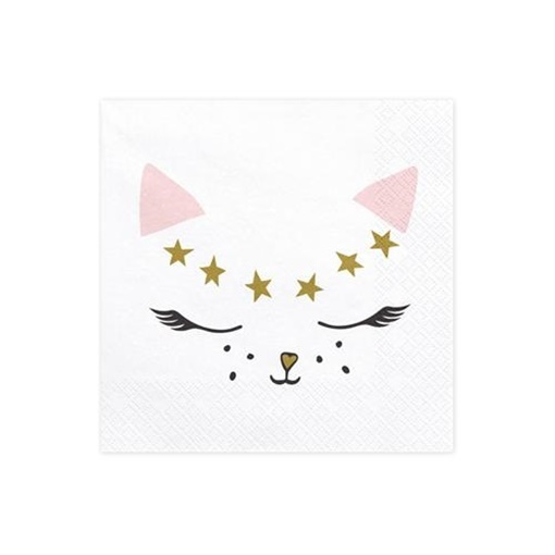 Obrázek z Papírové ubrousky kočička 20 ks