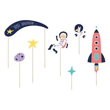 Obrázek Ozdoba na dort Space 7 ks