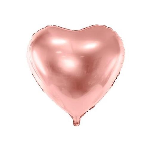 Obrázek z Foliový balonek srdce rose gold 61 cm