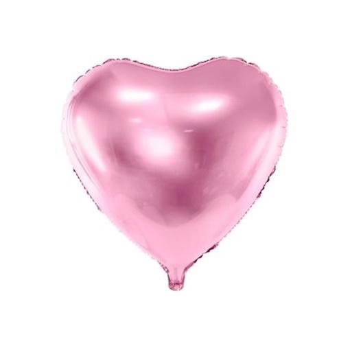 Obrázek z Foliový balonek srdce světle růžové 61 cm