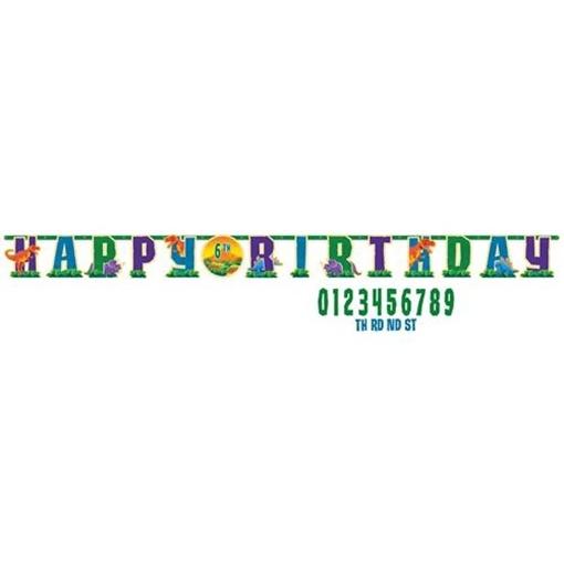 Obrázek z Party nápis Dino Happy Birthday 323 cm