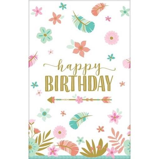 Obrázek z Papírový ubrus Boho Birthday 137 x 259 cm