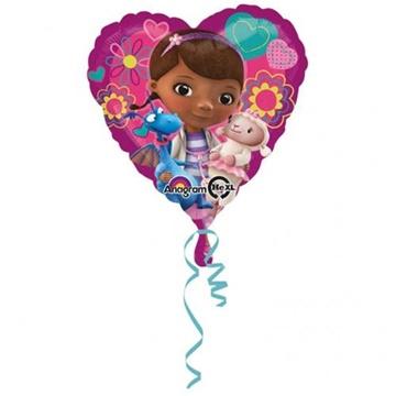 Obrázek Foliový balonek srdce Doktorka Plyšáková 43 cm