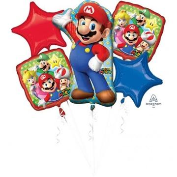 Obrázek Sada foliových balonků Super Mario - 5 ks
