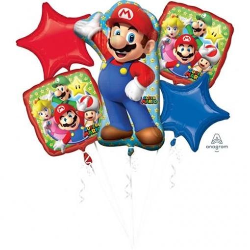Obrázek z Sada foliových balonků Super Mario - 5 ks