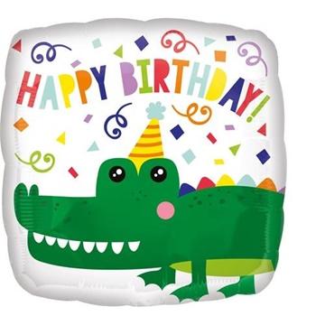 Obrázek Foliový balonek Krokodýl Happy Birthday 43 cm