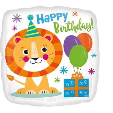 Obrázek Foliový balonek Lev Happy Birthday 43 cm