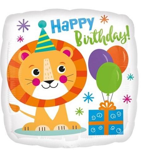 Obrázek z Foliový balonek Lev Happy Birthday 43 cm