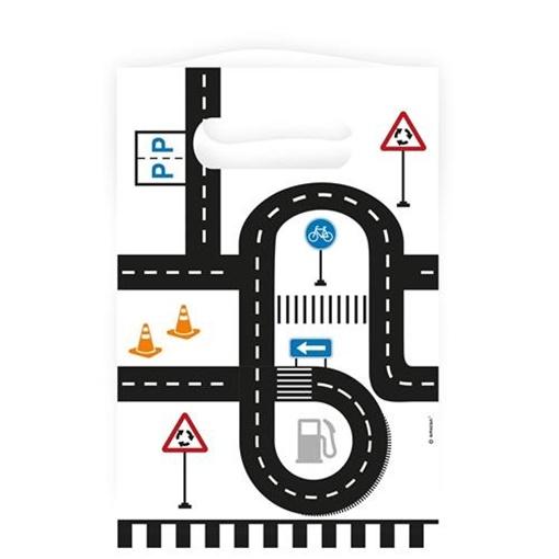 Obrázek z Party papírové tašky Dopravní cesta 8 ks