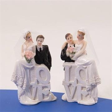 Obrázek Svatební figurky na dort - nápis love