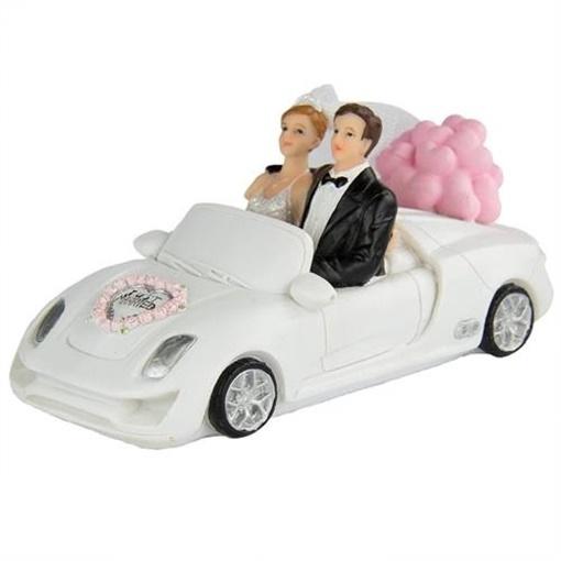Obrázek z Svatební figurky na dort - kabriolet