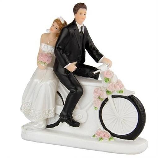 Obrázek z Svatební figurky na dort - na kole