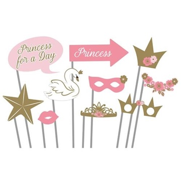 Obrázek Rekvizity do fotokoutku Na den princeznou 10 ks