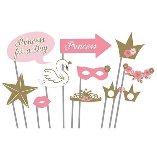 Obrázek z Rekvizity do fotokoutku Na den princeznou 10 ks