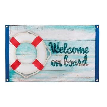Obrázek Námořnická party dekorace vlajka - Vítejte na palubě
