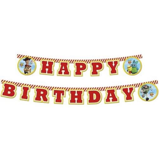 Obrázek z Narozeninový banner Happy Birthday Toy Story, 200 cm