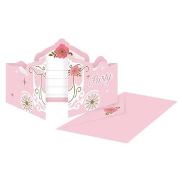Obrázek Party pozvánky Na den princeznou 8 ks