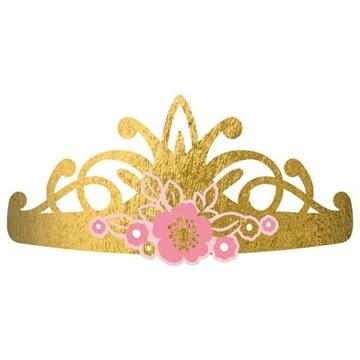 Obrázek Party papírové korunky Na den princeznou 8 ks