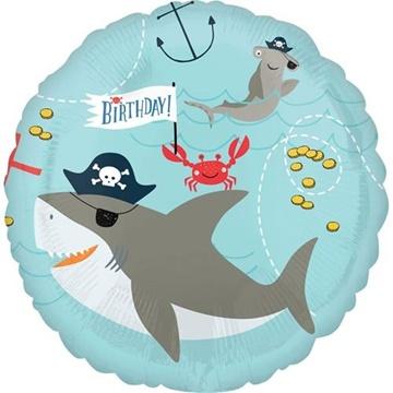 Obrázek Foliový balonek Pirátský - žralok a chobotnice 43 cm