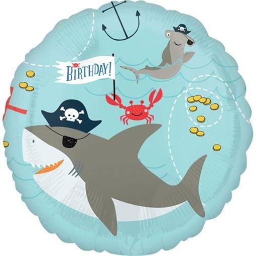 Obrázek z Foliový balonek Pirátský - žralok a chobotnice 43 cm