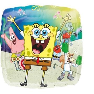 Obrázek Foliový balonek čtverec Sponge Bob 43 cm