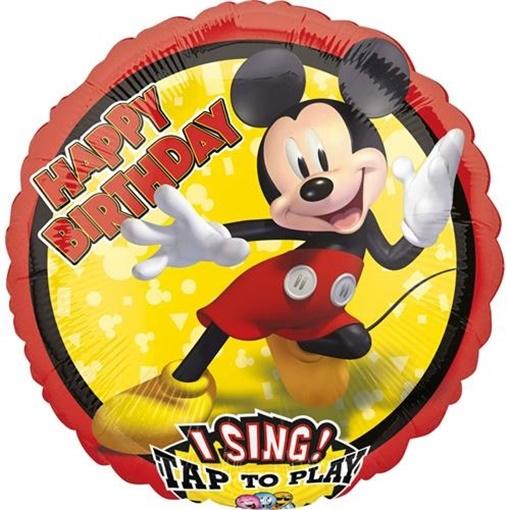 Obrázek z Foliový zpívající balonek Mickey Mouse 71 cm