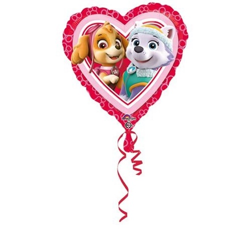 Obrázek z Foliový balonek srdce Tlapková patrola 43 cm