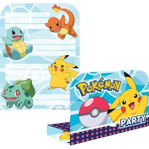 Obrázek z Party pozvánky Pokemon 8 ks