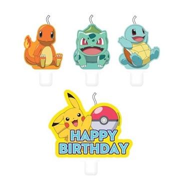 Obrázek Dortové svíčky Pokemon 4 ks