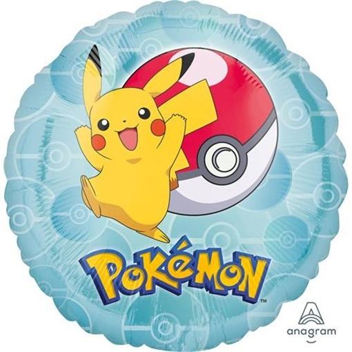 Obrázek z Foliový balonek kulatý Pokemon 43 cm