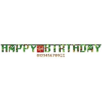 Obrázek Narozeninový nápis Minecraft TNT Happy Birthday 320 cm