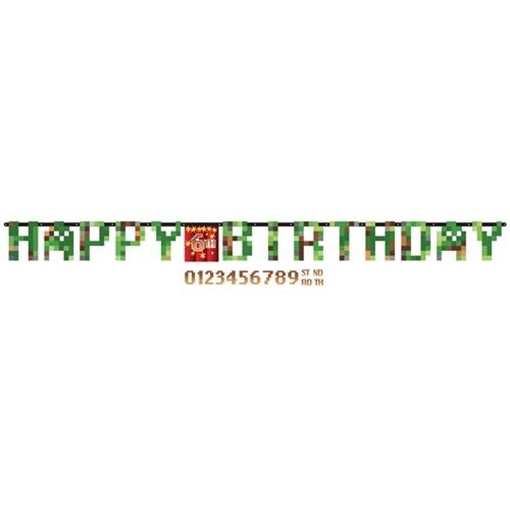 Obrázek z Narozeninový nápis Minecraft TNT Happy Birthday 320 cm
