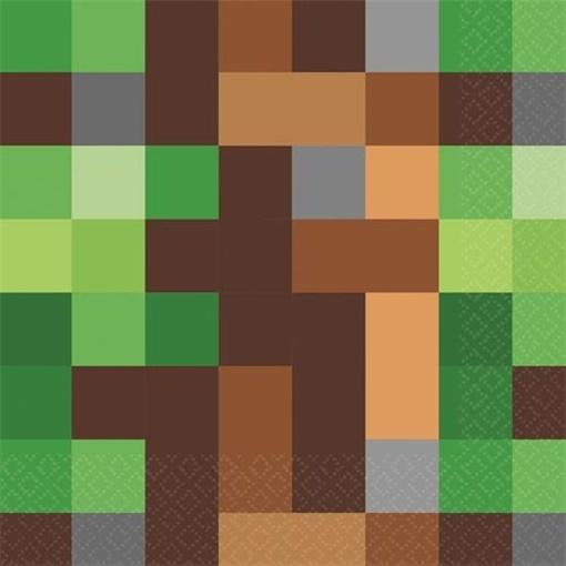 Obrázek z Papírové ubrousky Minecraft TNT 16 ks