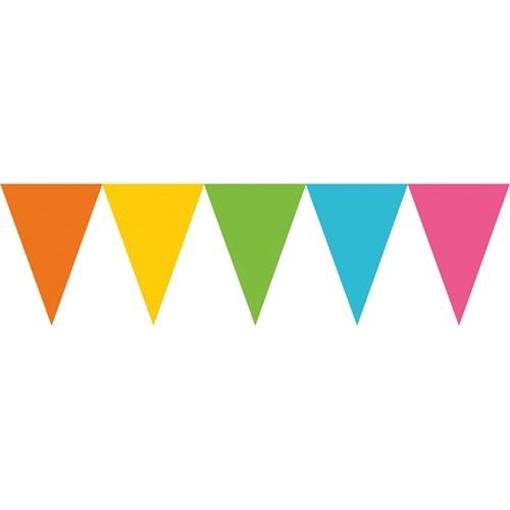 Obrázek z Vlaječková girlanda barevná pastelová 457 cm