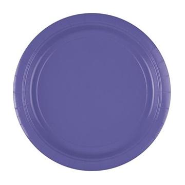 Obrázek Papírové talíře fialové New 23 cm - 8 ks