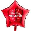 Obrázek z Foliový balonek Všechno nejlepsí hvězdy - červený - 45 cm