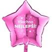 Obrázek z Foliový balonek Všechno nejlepsí hvězdy - růžový - 45 cm