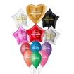 Obrázek z Latexový balonek hvězdy - Všechno nejlepší 48 cm